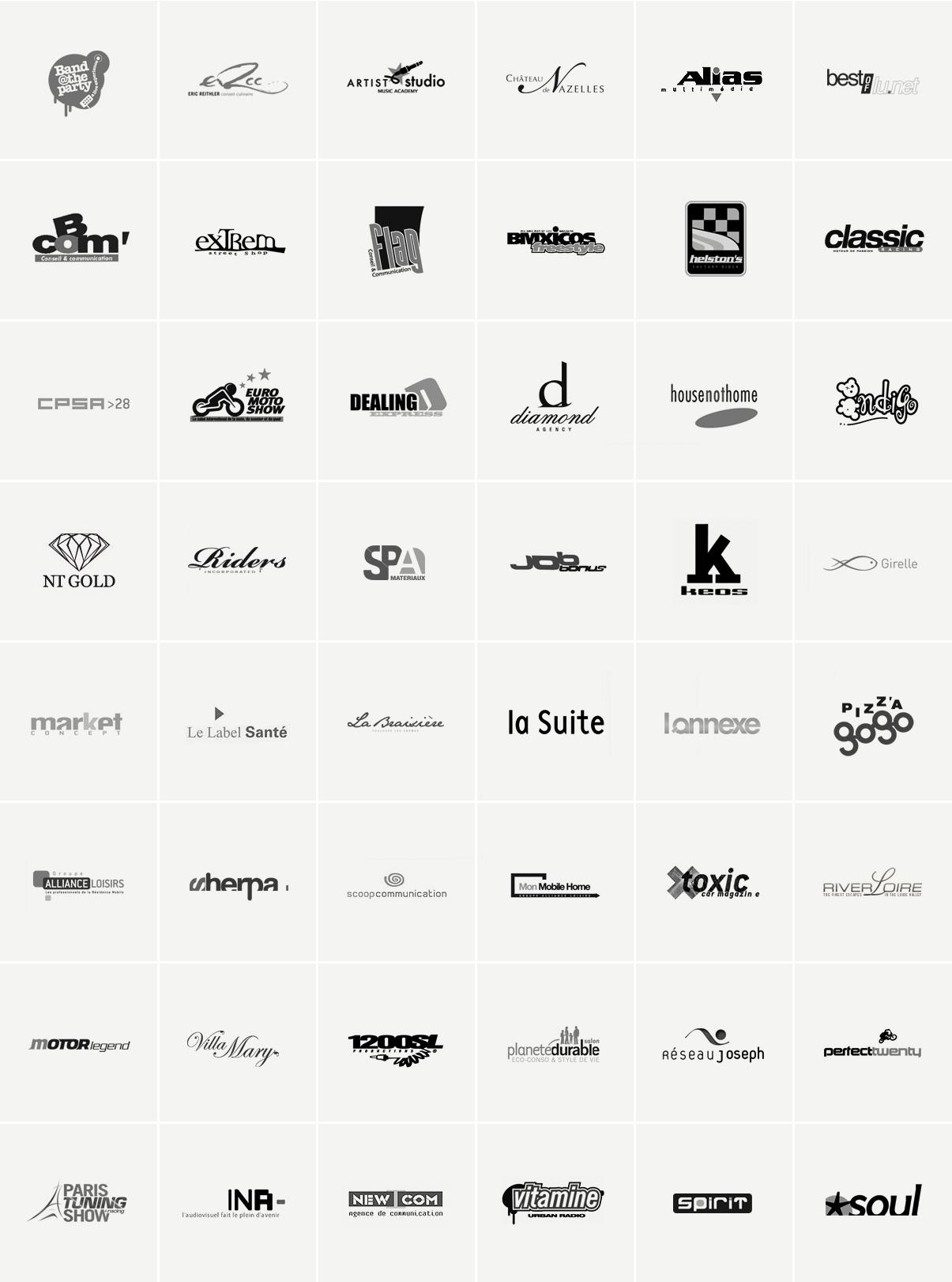Logos - Direction artistique - Design graphique - 1995/2010 - © Ovarma creative studio