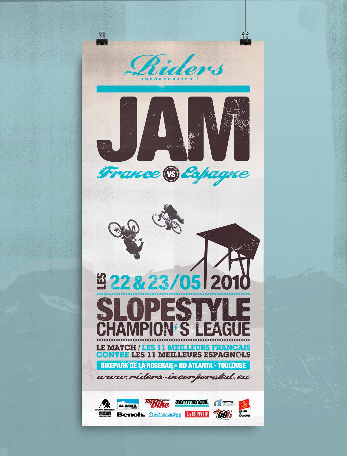 Projet, print, D.A, design graphique, affiche, sports extrêmes, association, VTT, BMX, riding, jam, © Olivier Varma
