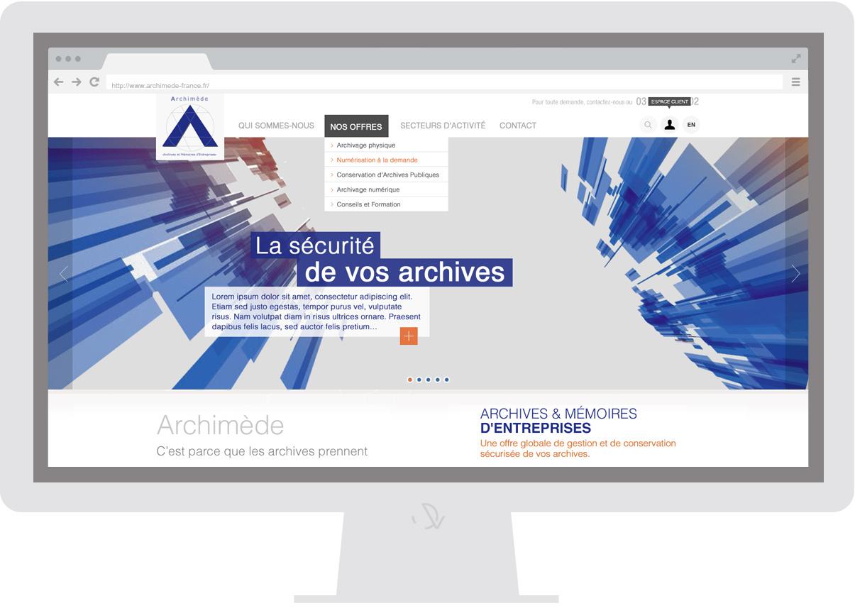 Archimède - Homepage - Web design Olivier Varma