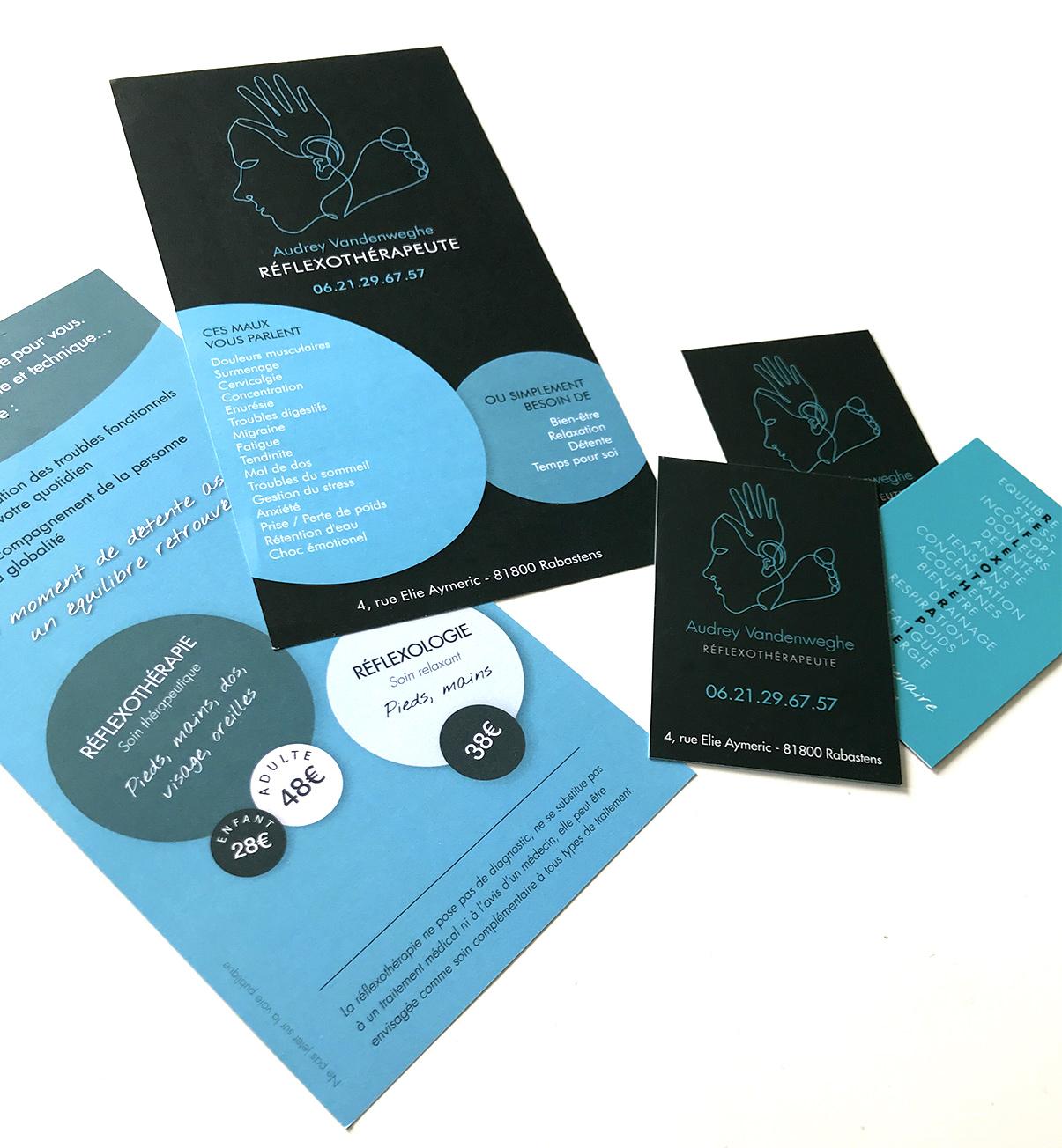 Cartes de visite- Flyer - Audrey Vandenweghe - Reflexothérapeute - Rabastens © www.ovarma.com
