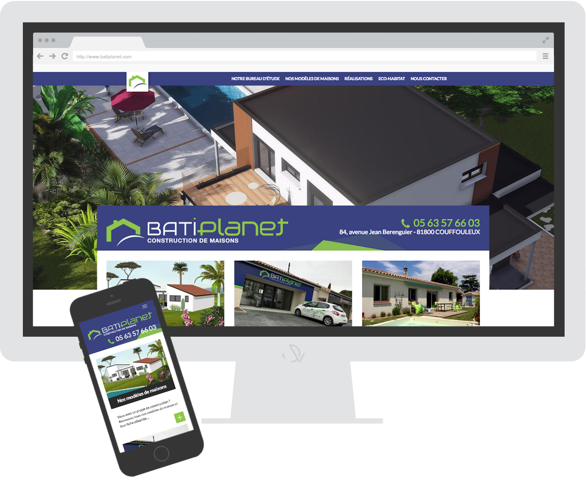 Homepage Site internet Batiplanet - Construction de maisons - Rabastens - Tarn - Olivier Varma - ©ovarma.com