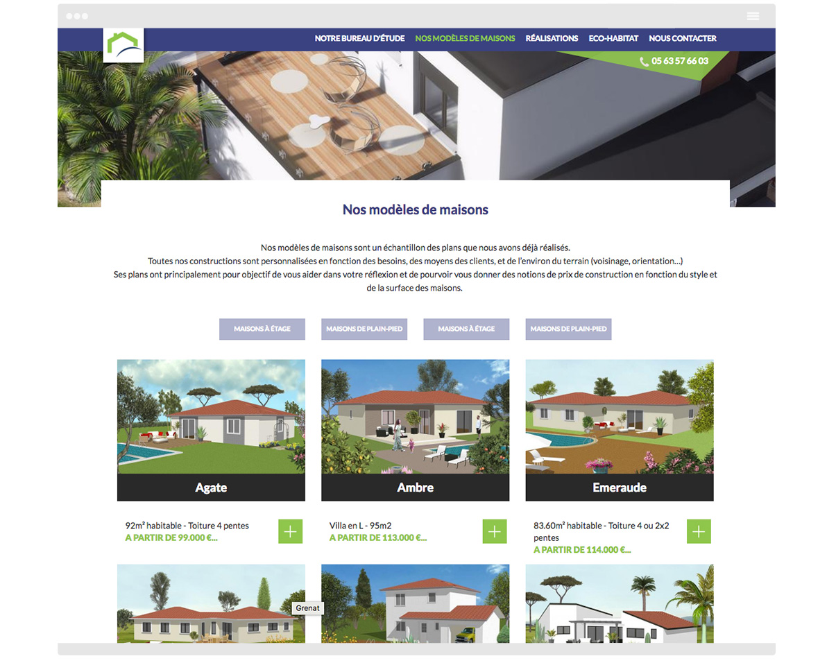 Page 1 Site internet Batiplanet - Construction de maisons - Rabastens - Tarn - Olivier Varma - ©ovarma.com