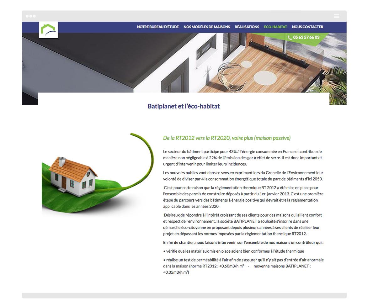 Page 2 Site internet Batiplanet - Construction de maisons - Rabastens - Tarn - Olivier Varma - ©ovarma.com