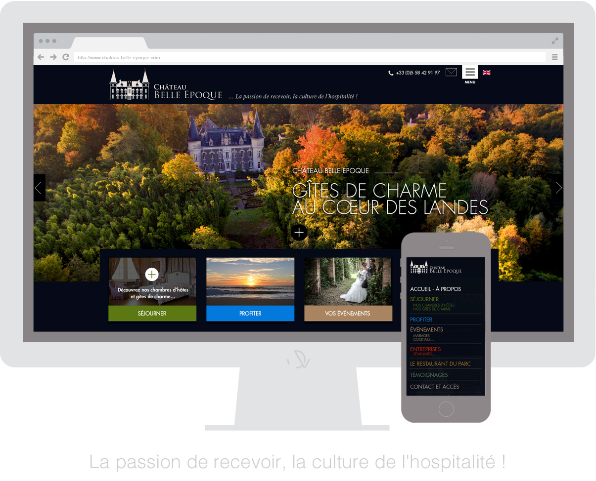 Châteaux Belle Epoque - Homepage - Olivier Varma - graphiste freelance © ovarma creative studio