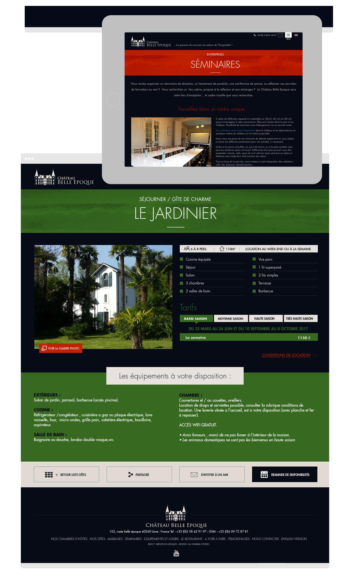 Châteaux Belle Epoque - Homepage - Olivier Varma - Directeur artistique freelance © ovarma creative studio