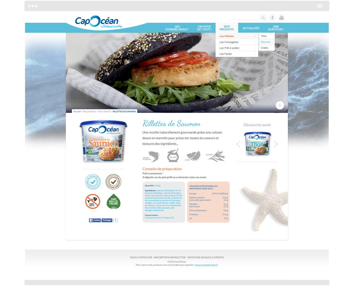 Cap océan - Homepage - Pages intérieures
