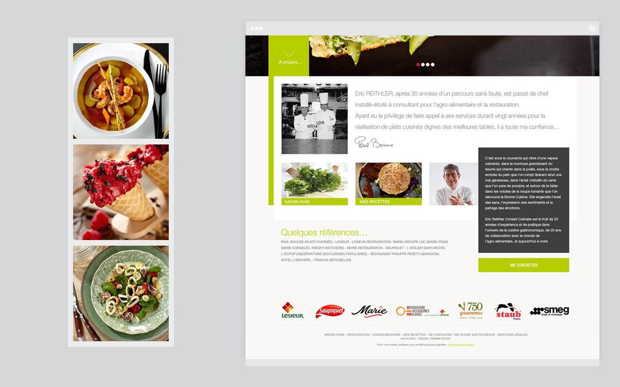 ERCC - Site internet - Conseil culinaire - HomePage - © ovarma.com