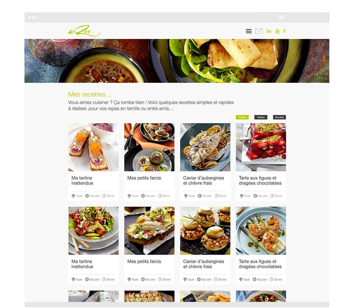 ERCC - Site internet - Conseil culinaire - Page - © ovarma.com