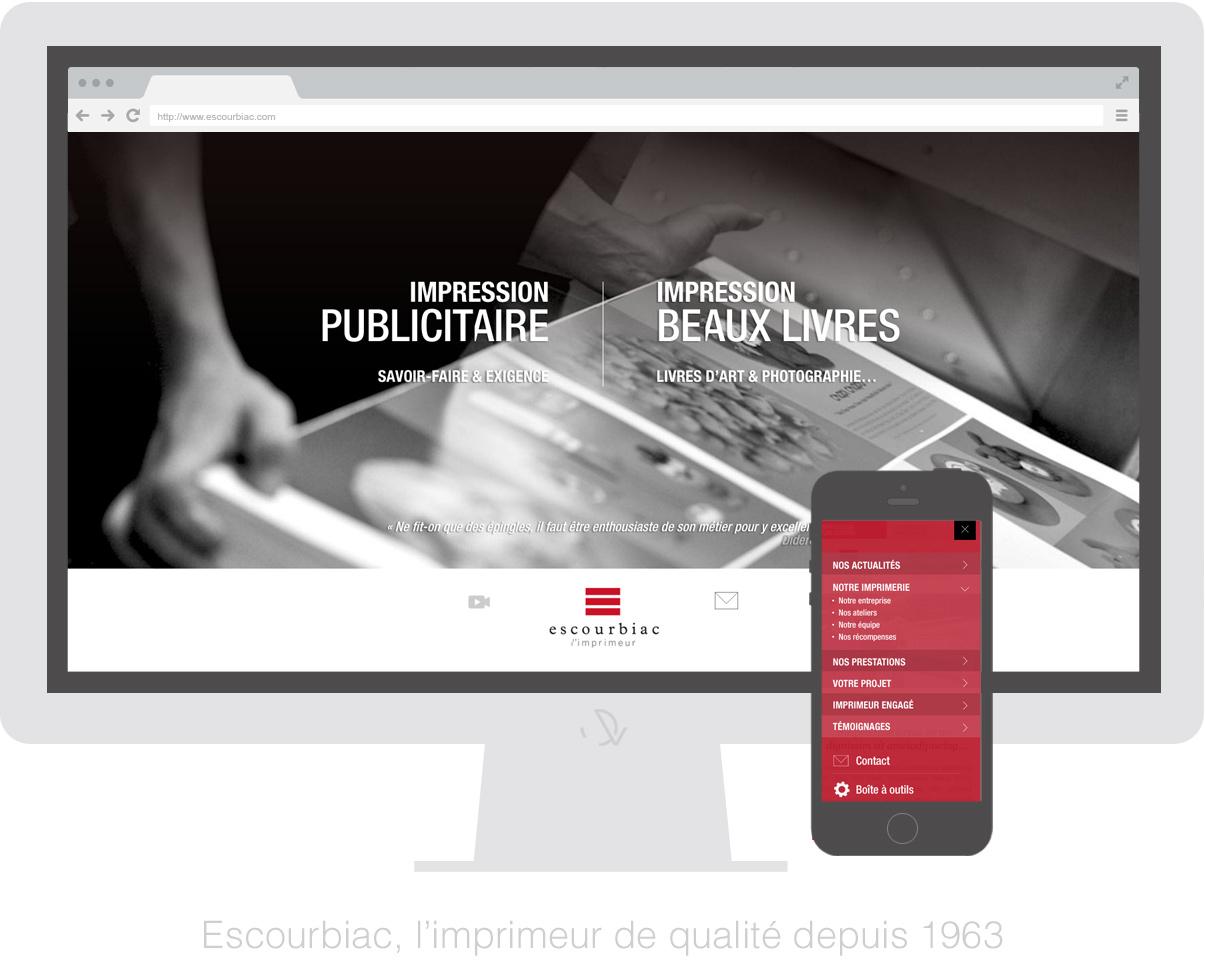 Imprimerie Escourbiac - Homepage OFF - Olivier Varma - graphiste freelance © www.ovarma.com