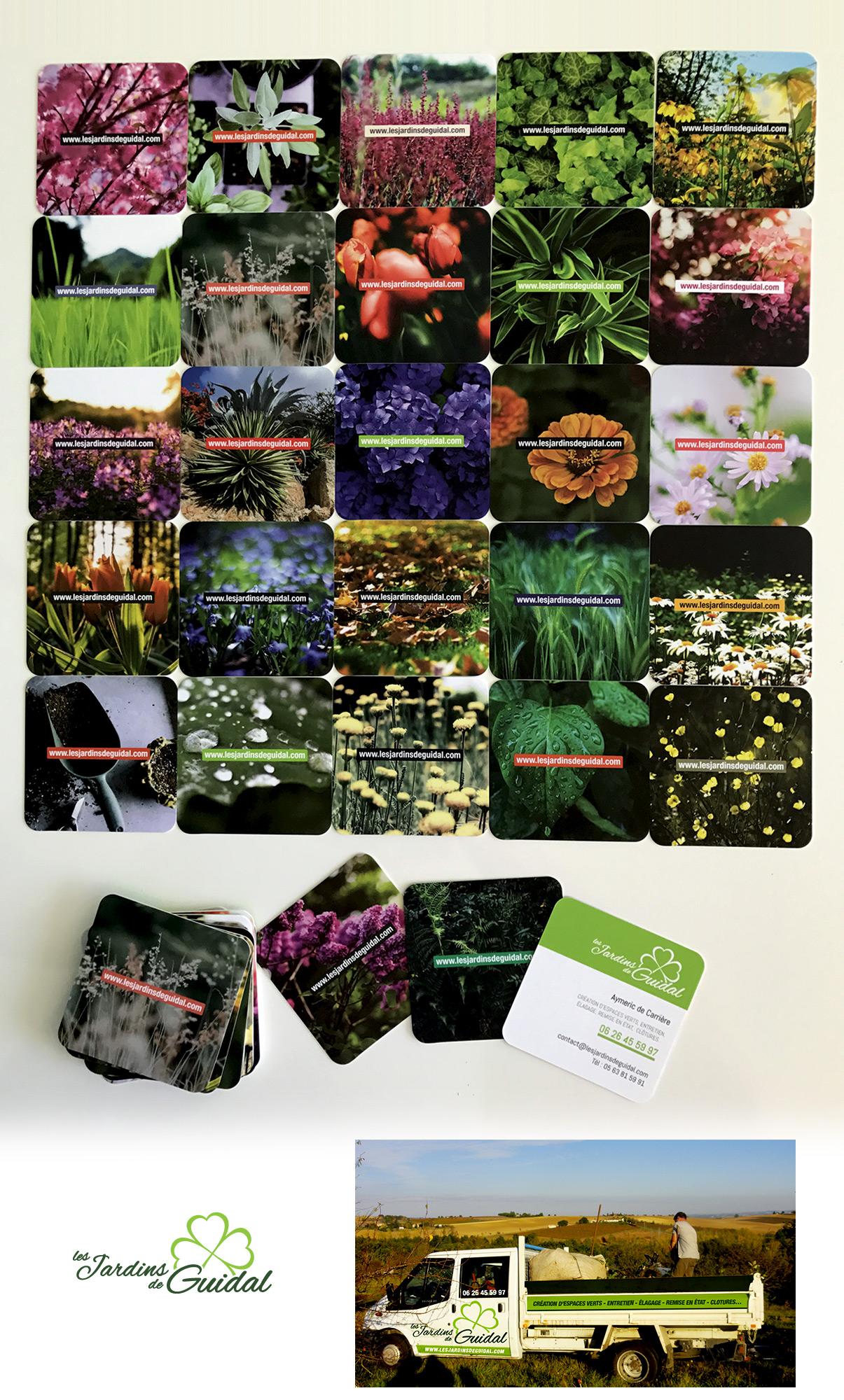 Cartes de visite Les jardins de Guidal - Rabastens - © www.ovarma.com