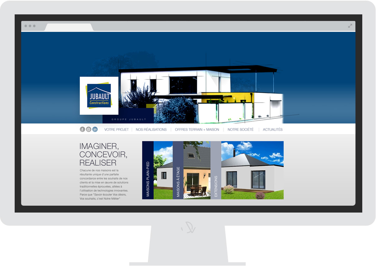 Jubault constuctions - Site internet - Drupal - Direction de création - Web design
