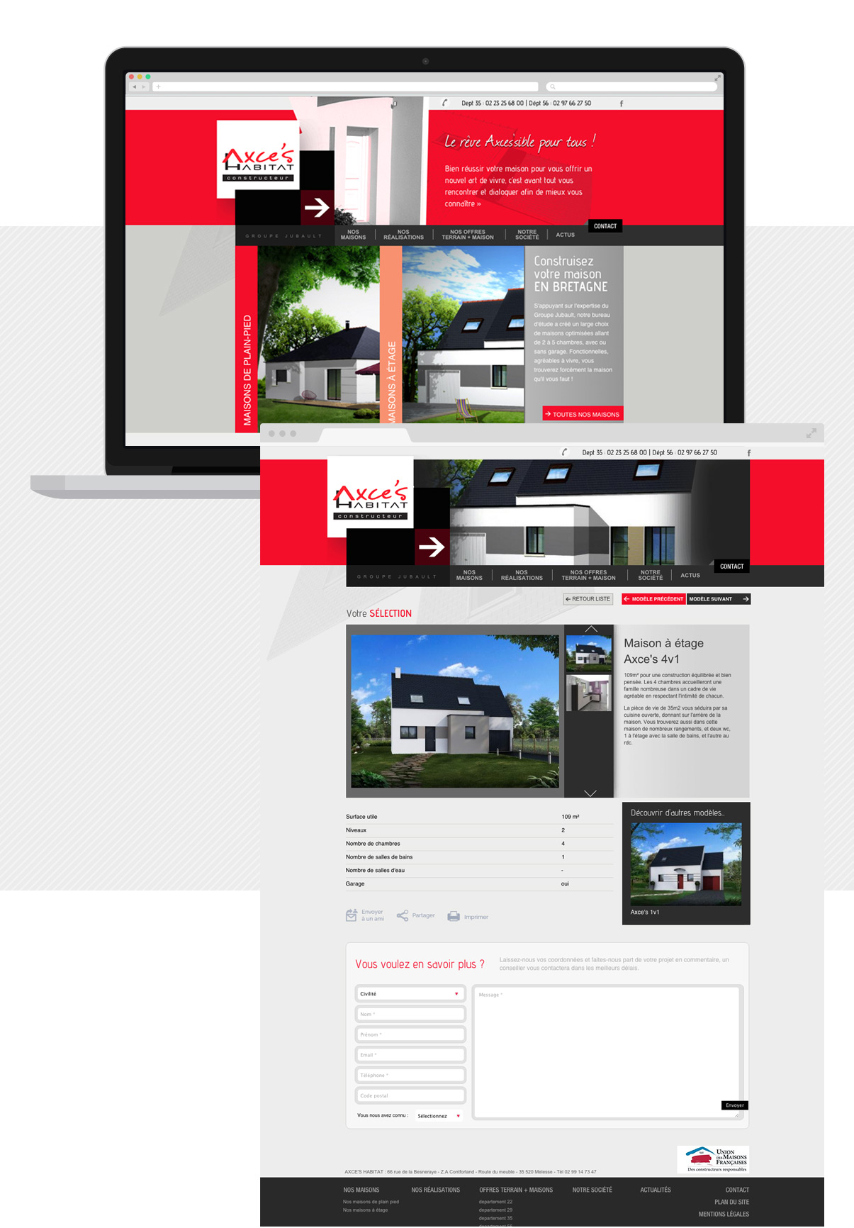 Axce's Habitat - Site internet - Drupal - Direction de création - Web design