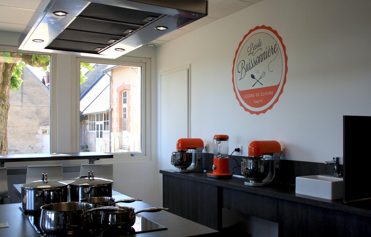 L'École Buissonnière - Graphic design, logotype, cuisine, évènements, Blois