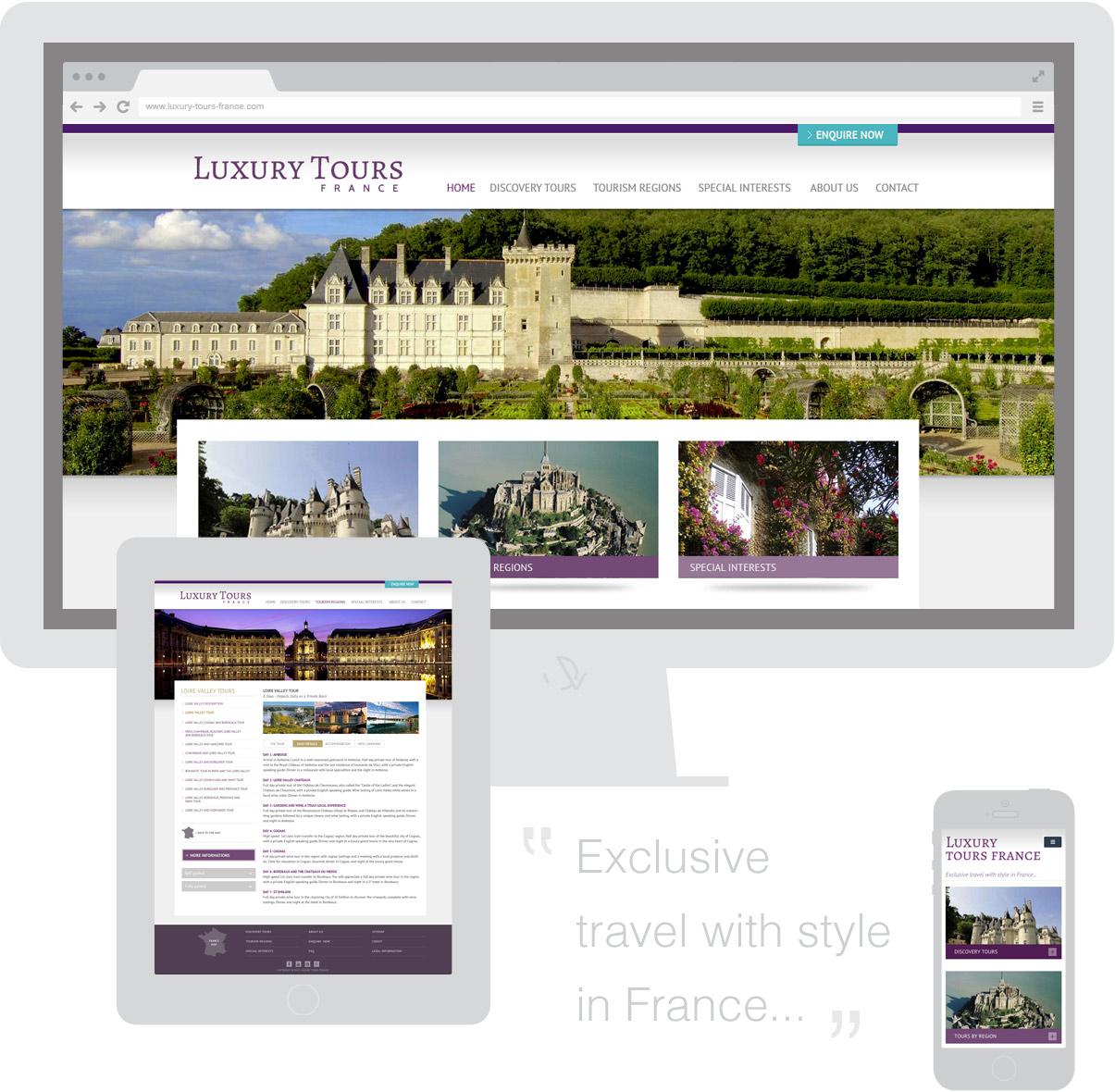 Luxury Tours France - Site internet - Homepage - Mobiles - Tourisme - Val de Loire - © ovarma.com