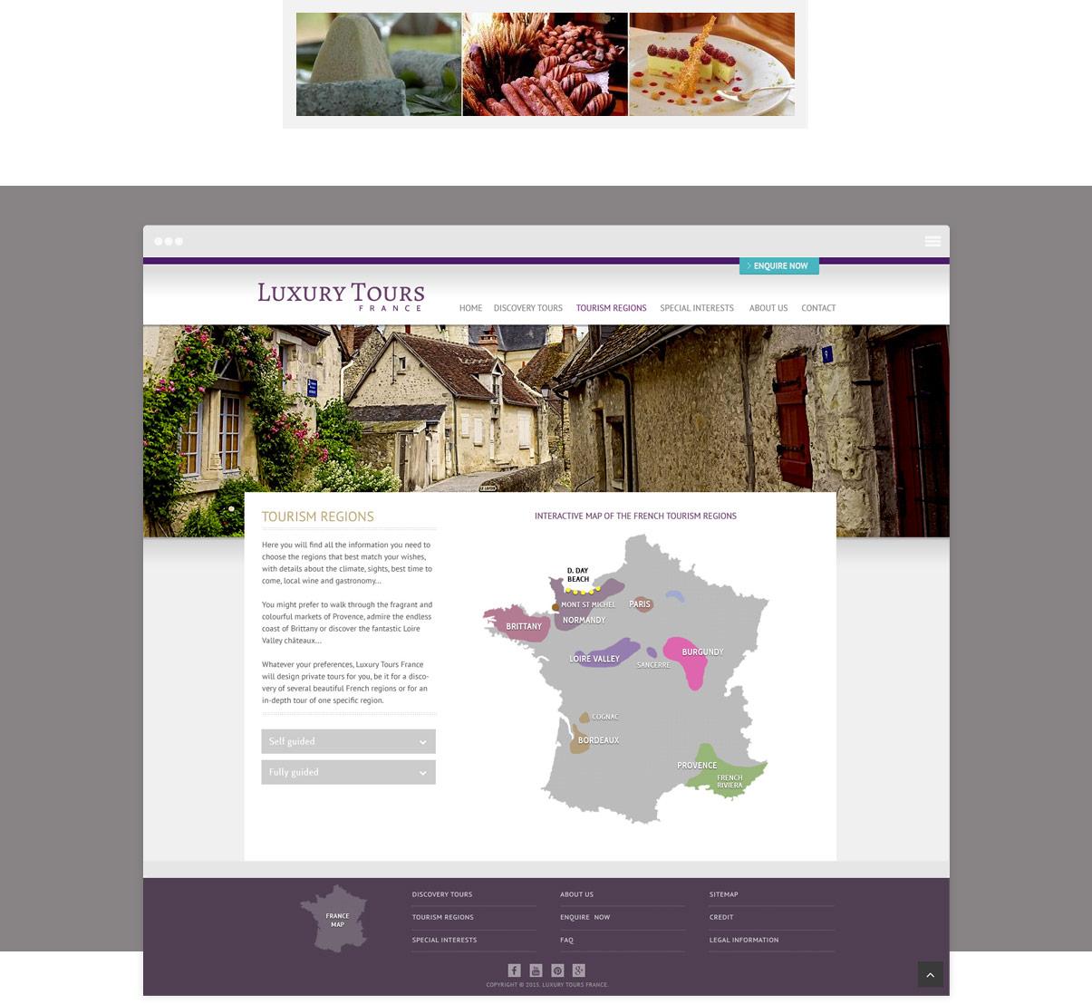 Luxury Tours France - Site internet responsive - Page intérieure - Tourisme - Val de Loire - © ovarma.com