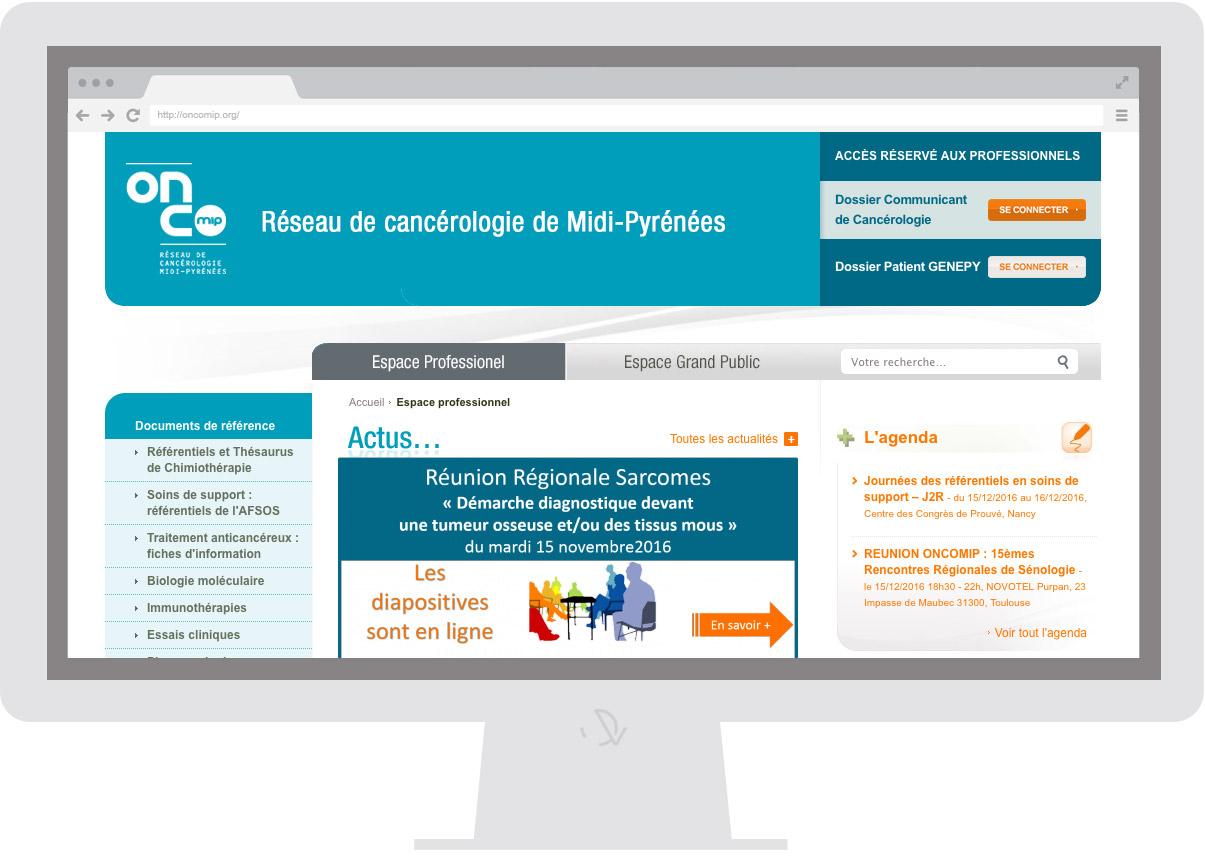Oncomip - Homepage - Web design Olivier Varma