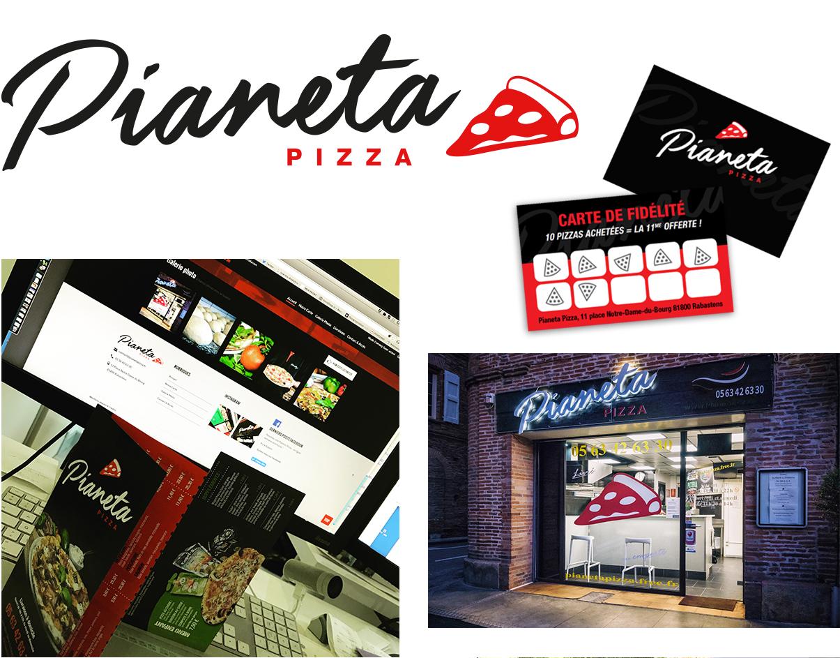 Logo Pianeta Pizza - © www.ovarma.com