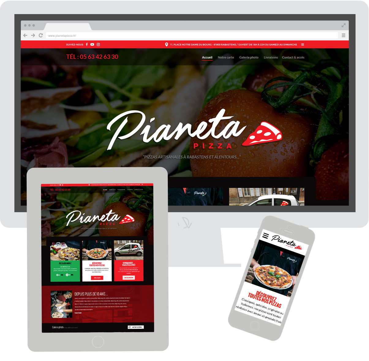Site internet Pianeta Pizza - Olivier Varma - ©ovarma.com