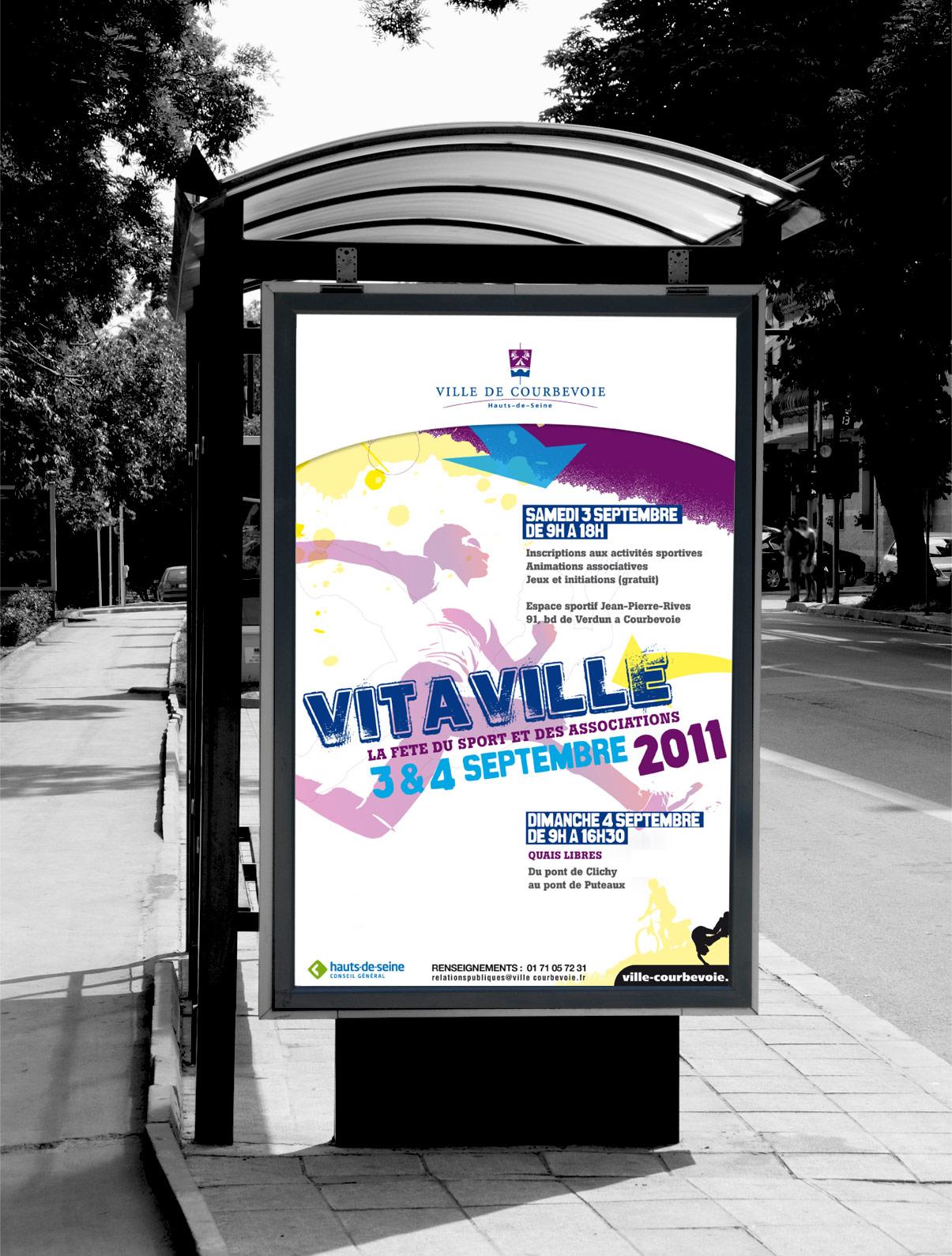 Abribus - ville - Courbevoie - Vitaville - Design graphique - © Olivier Varma