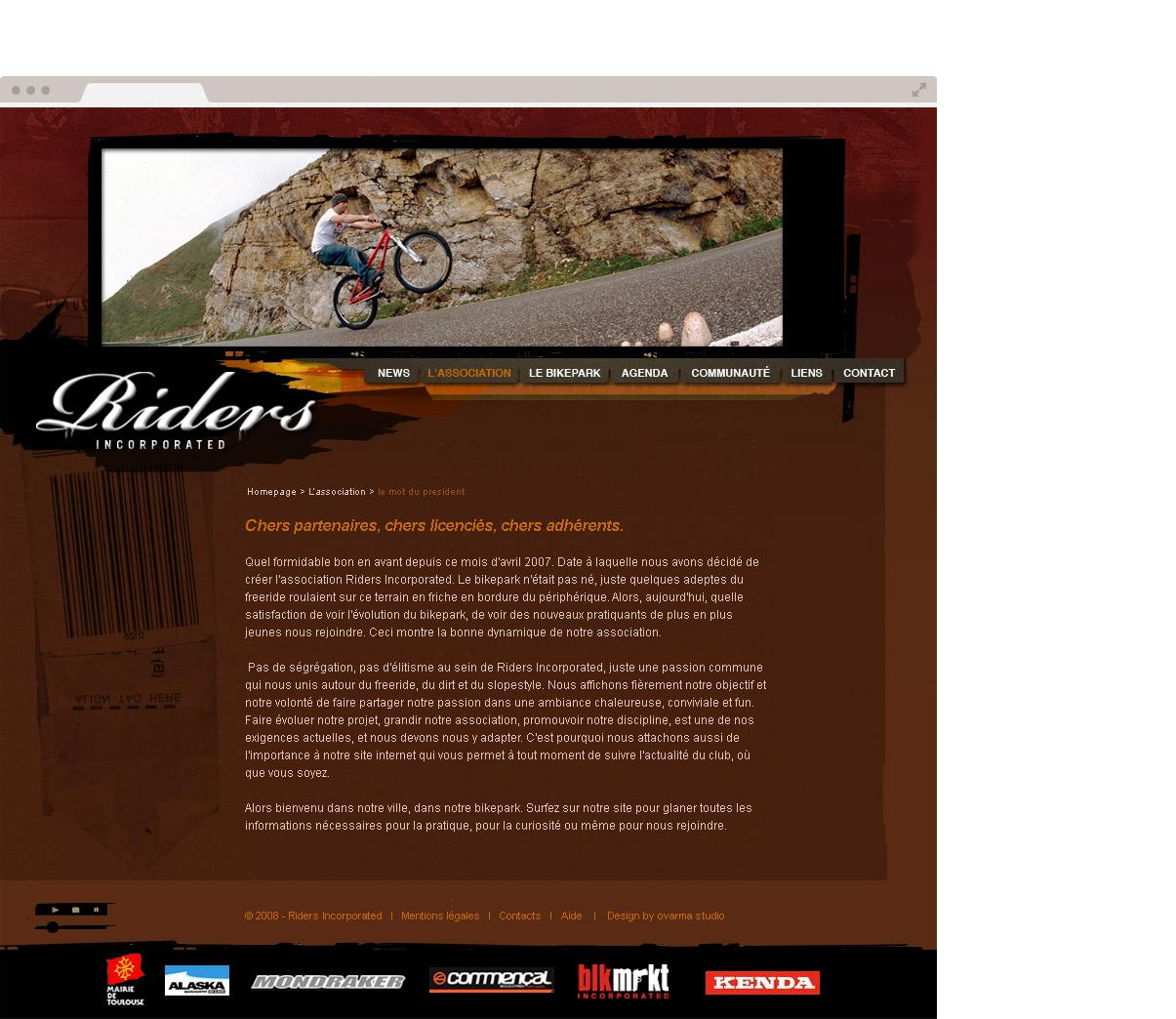 Site internet - Drupal - Direction artistique - Web design - Homepage - Cartes de visites - Oriflamme T-shirt - Toulouse