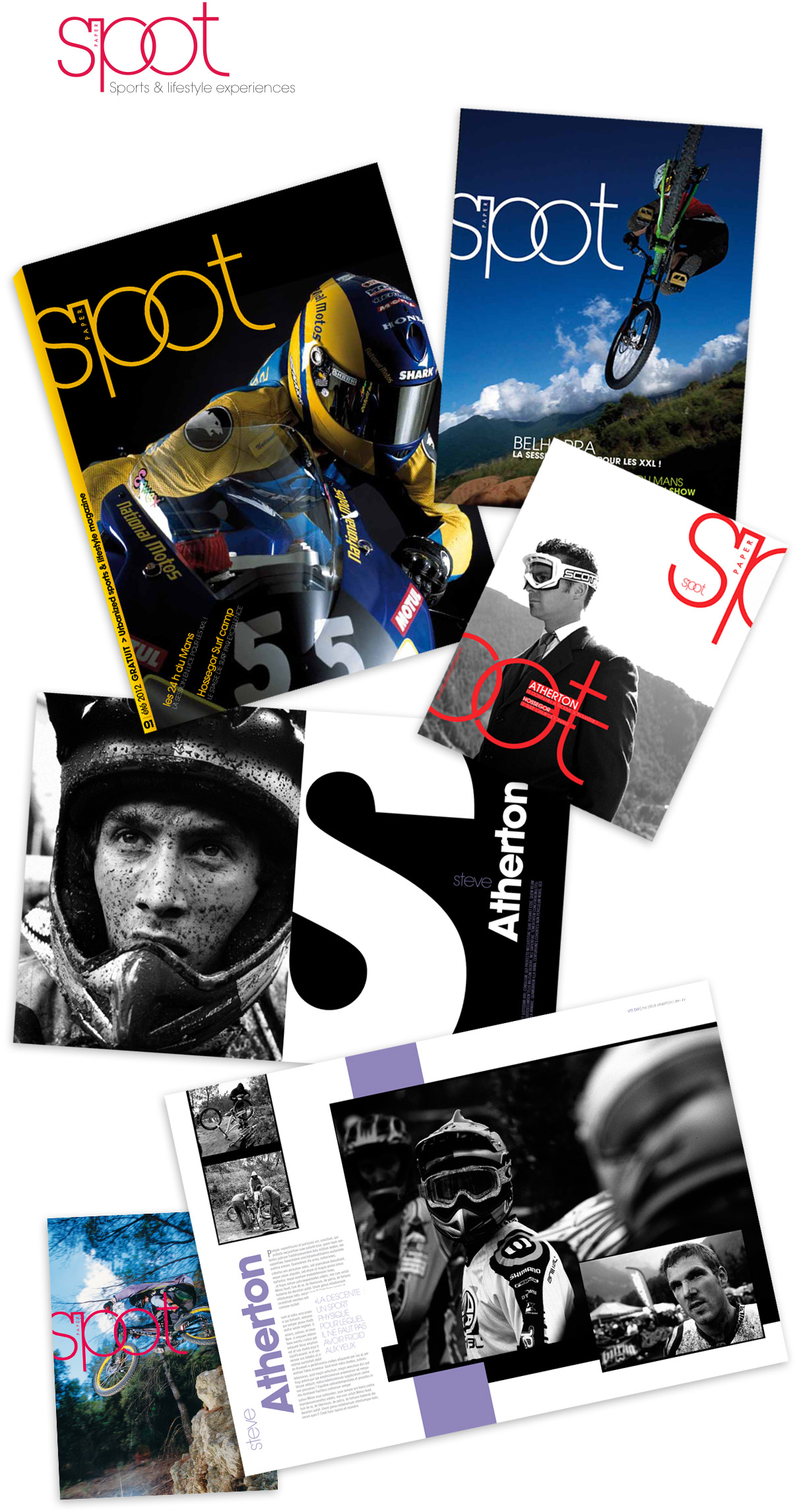 Projet, concept, magazine, D.A, design graphique, photo, sports extrêmes, riding © Olivier Varma