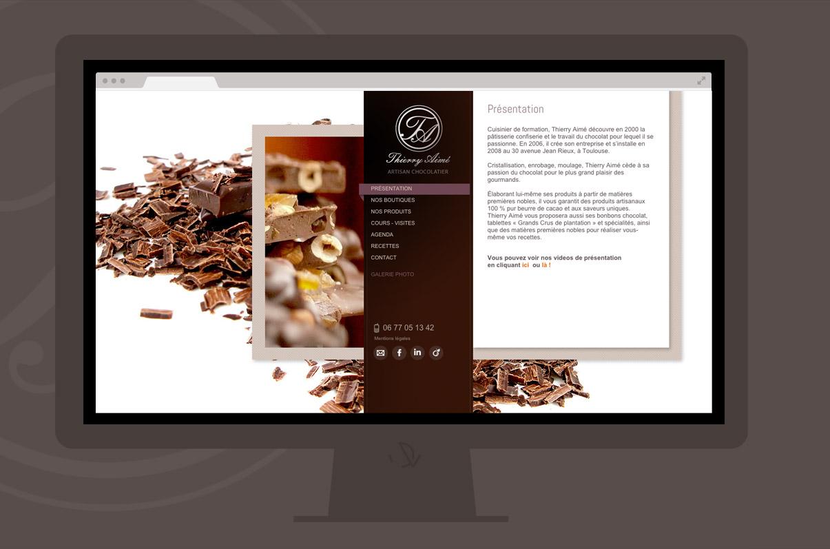 Thierry Aimé Chocolatier - Toulouse - Site internet - Homepage - © ovarma.com