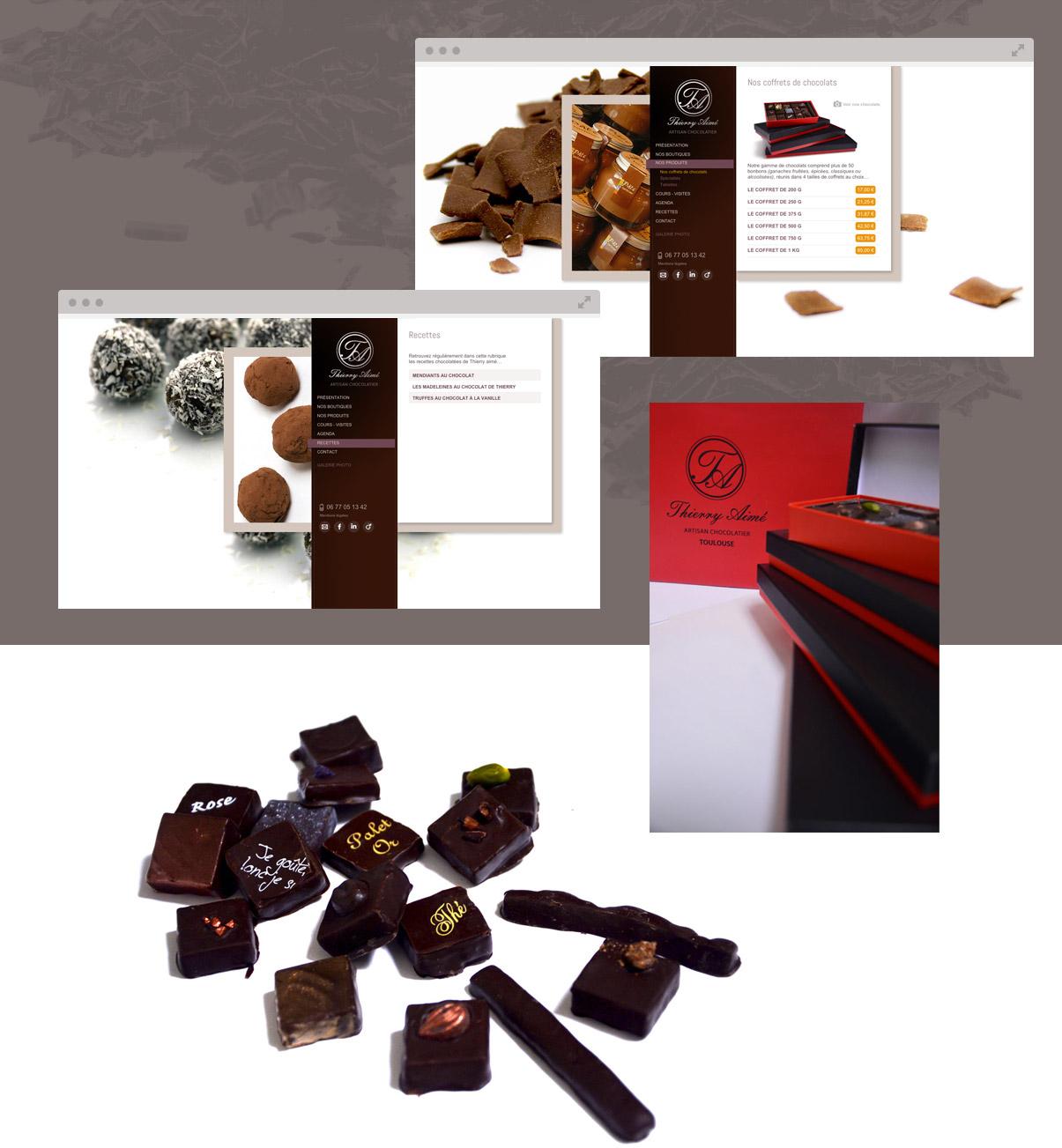 Thierry Aimé Chocolatier - Toulouse - Site internet - pages intérieures - © ovarma.com