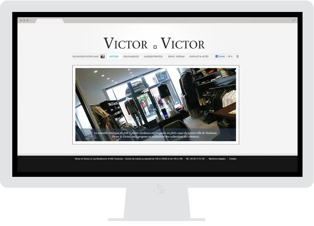 Victor & Victor - Site internet - Drupal - Direction de création - Web design - Toulouse