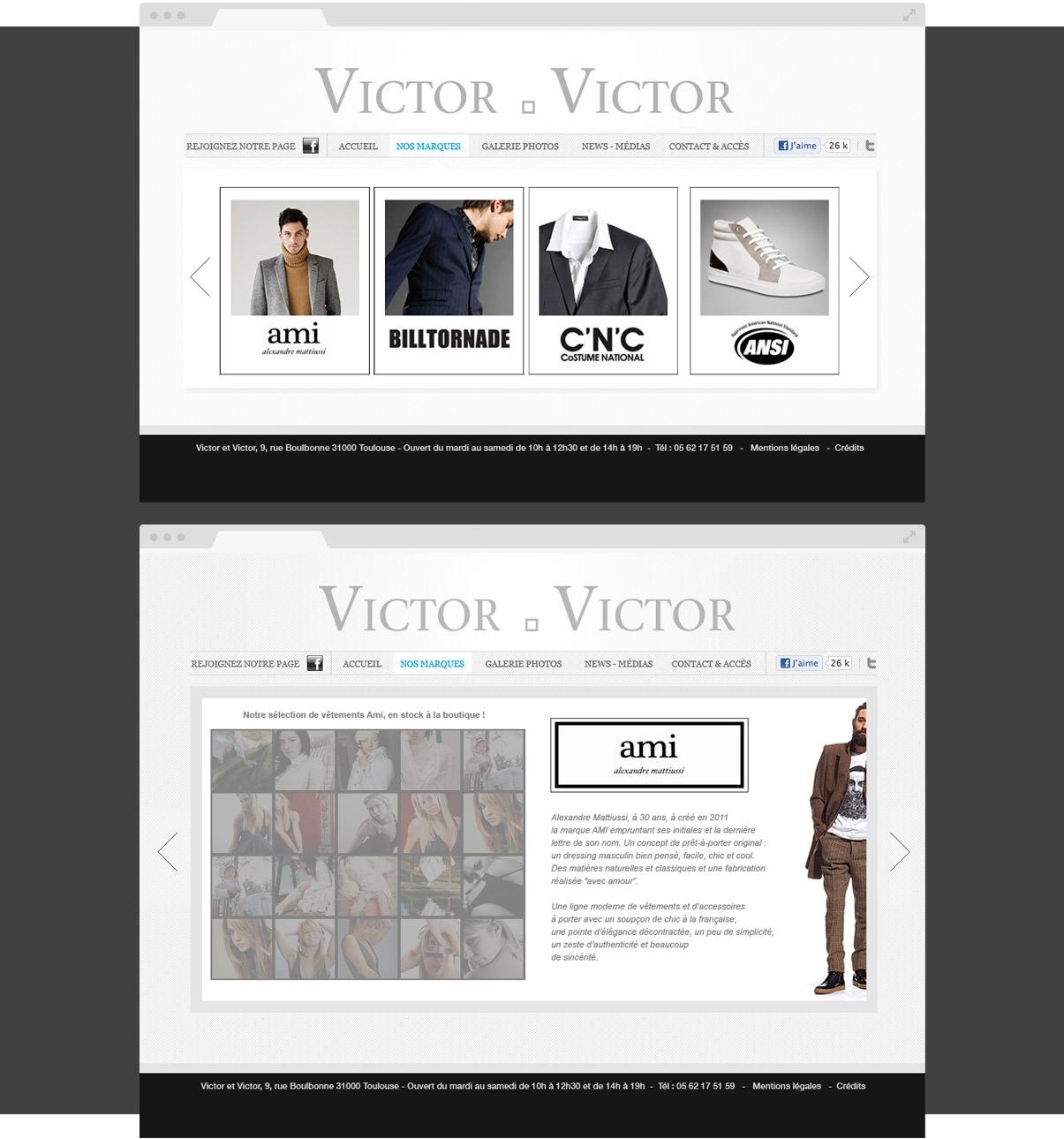 Victor & Victor - Site internet - Drupal - Direction de artistique - Web design - Toulouse 31