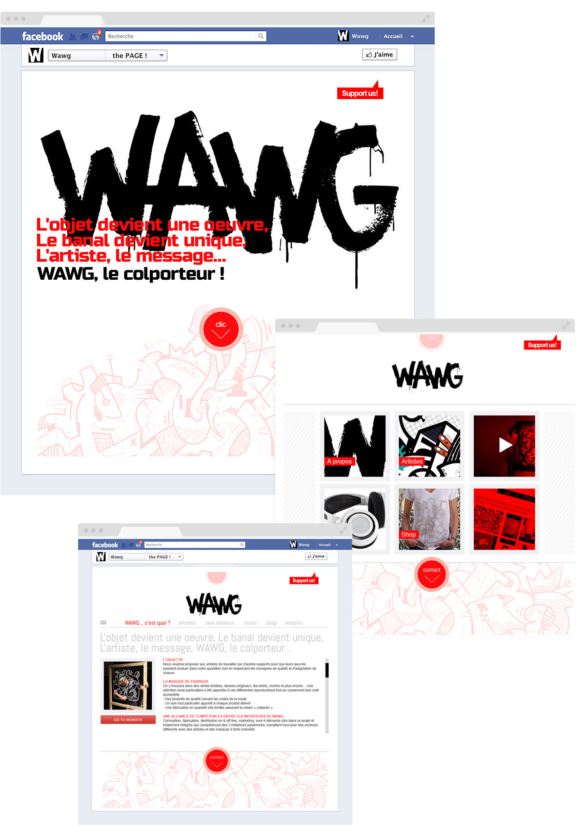 Wawg - Facebook - Direction artistique - Web design - Toulouse - © Olivier Varma
