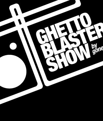 Ghetto Blaster Show - Graphic design - Logotype - Music - Radio - GonestheDJ - Mixcloud - © Olivier Varma - www.ovarma.com