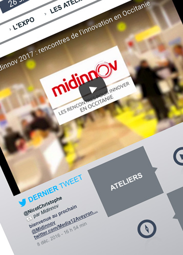 Webdesign - Midinov - Homepage - Olivier Varma graphiste Toulouse